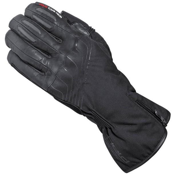 black motorcycle heated glove