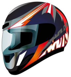 black and red motorcycle helmet