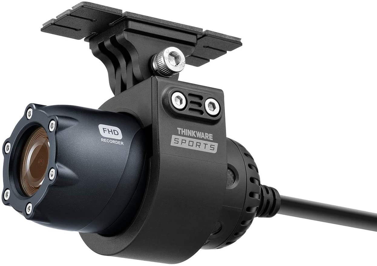 THINKWARE Sports M1 Dash Cam for Motorcycle ATV UTV, FHD Dual Channel, EIS, Built-in WiFi, Auto On Off, Loop Recording