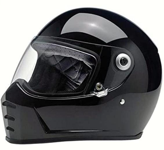 Biltwell Lane Splitter Solid Full-face Motorcycle Helmet - Gloss BlackMedium