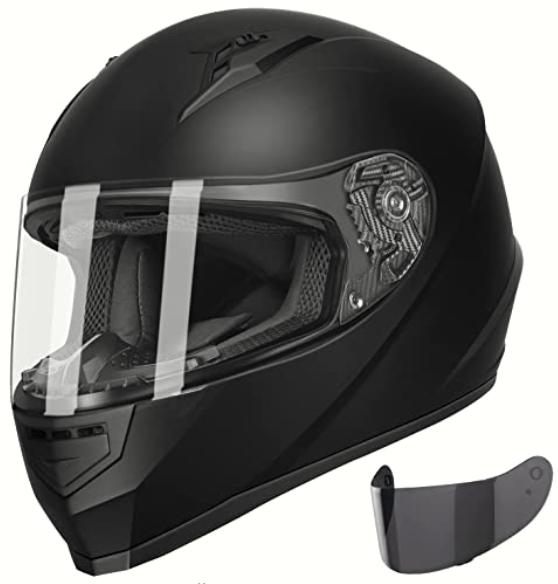 GLX Unisex-Adult GX11 Compact Lightweight Full Face Motorcycle Street Bike Helmet